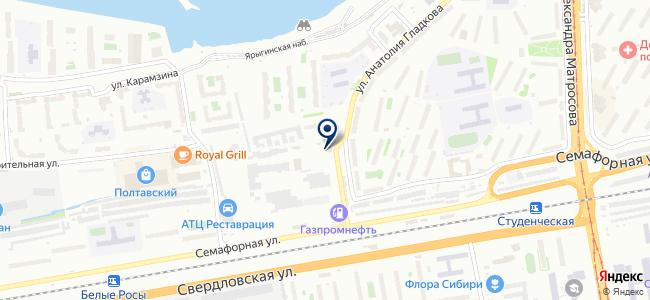 Автосервис на Гладкова на карте