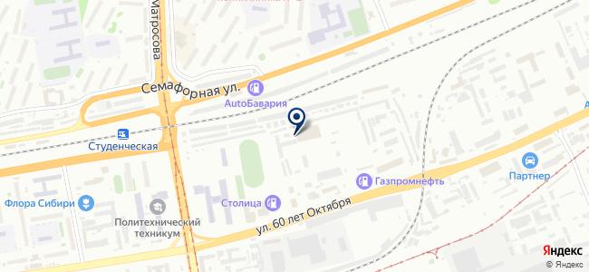 Такмак, ООО на карте