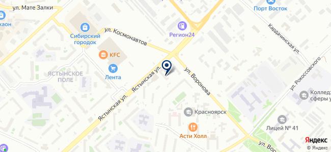 Красноярск-Восток-Сервис, ЗАО на карте