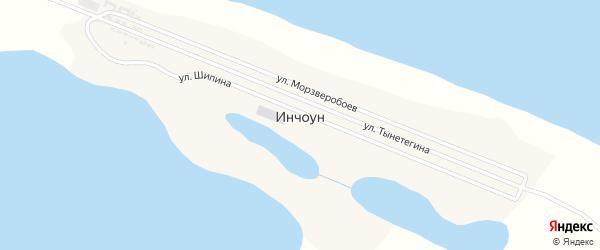 Улица Шипина на карте села Инчоуна с номерами домов