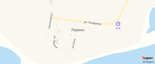 Западная улица на карте села Лорино с номерами домов