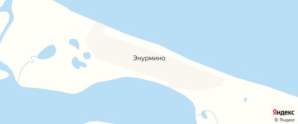 Карта села Энурмино в Чукотском автономном округе с улицами и номерами домов