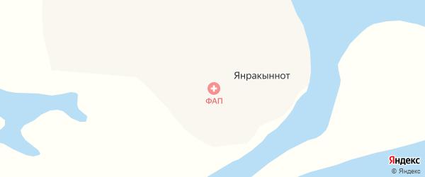 Полярная улица на карте села Янракыннота с номерами домов