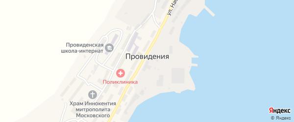 Улица Ясная Поляна на карте поселка Провидения с номерами домов