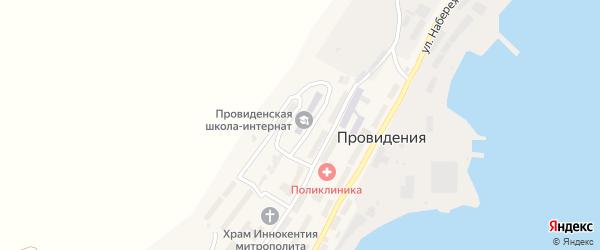 Эскимосская улица на карте поселка Провидения с номерами домов
