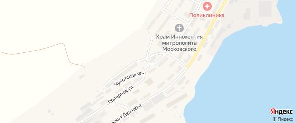 Чукотская улица на карте поселка Провидения с номерами домов