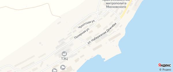 Полярная улица на карте поселка Провидения с номерами домов