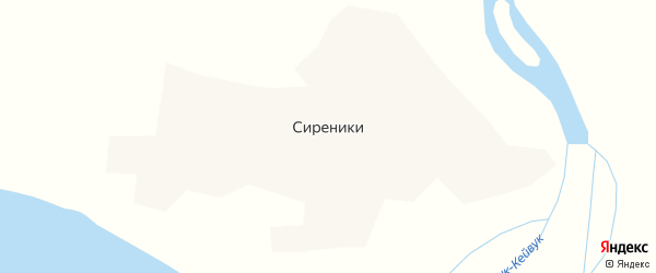 Северная улица на карте села Сиреники с номерами домов