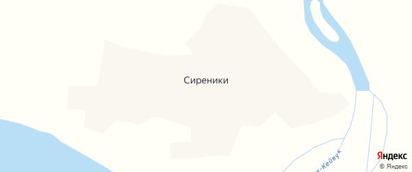 Улица Мандрикова на карте села Сиреники с номерами домов