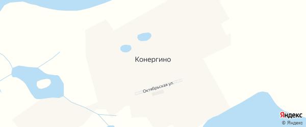 Октябрьская улица на карте села Конергино с номерами домов