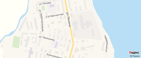 Улица Ленина на карте поселка Эгвекинот с номерами домов