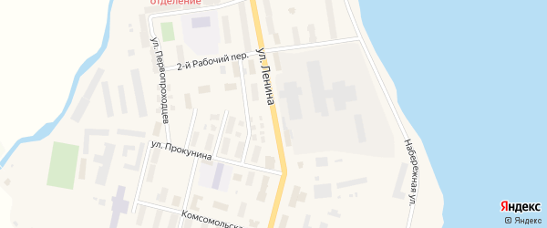 Улица В.И.Ленина на карте поселка Эгвекинот с номерами домов
