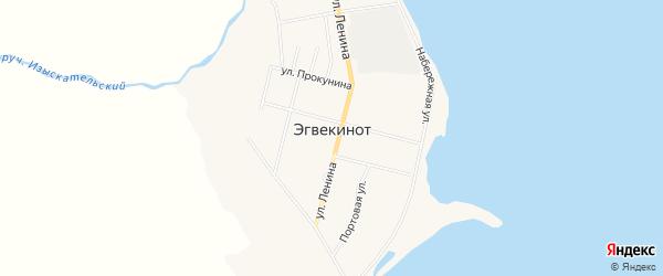 Карта поселка Эгвекинот в Чукотском автономном округе с улицами и номерами домов