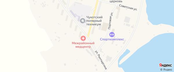 Улица Рынтыргина на карте поселка Эгвекинот с номерами домов