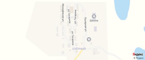 Улица Гагарина на карте поселка Эгвекинот с номерами домов