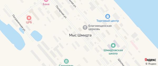 Полярная улица на карте поселка Мыса Шмидта с номерами домов