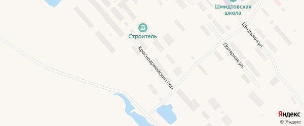 Красноармейский переулок на карте поселка Мыса Шмидта с номерами домов