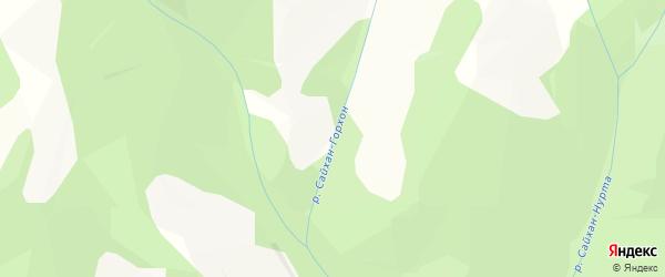 Карта местечка Сайхана Убэра в Бурятии с улицами и номерами домов