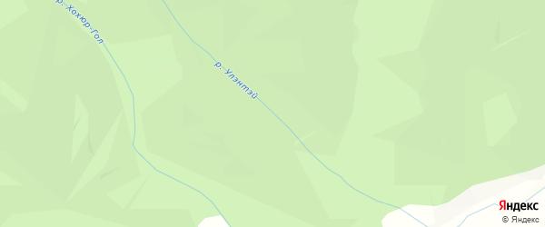 Карта местечка Улэнтэй в Бурятии с улицами и номерами домов