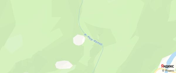 Карта местечка Нура Холой в Бурятии с улицами и номерами домов