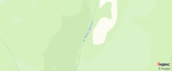 Карта местечка Алага Шулуна в Бурятии с улицами и номерами домов