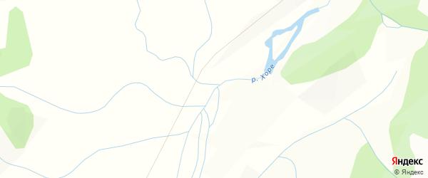 Карта местечка Хоре в Бурятии с улицами и номерами домов