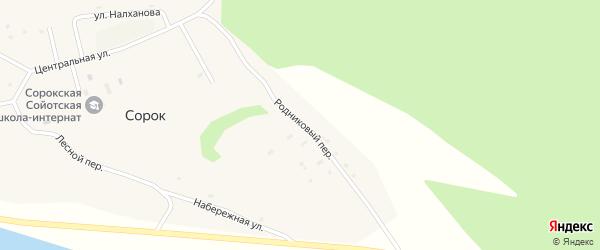 Родниковый переулок на карте улуса Сорок с номерами домов