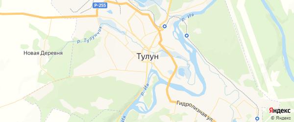 Карта Тулуна с районами, улицами и номерами домов: Тулун на карте России