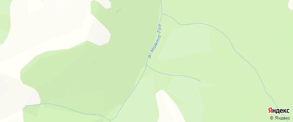 Карта местечка Номто в Бурятии с улицами и номерами домов