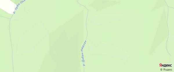 Карта местечка Хамара Дабана в Бурятии с улицами и номерами домов
