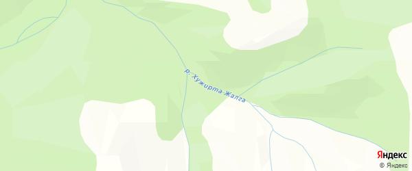 Карта местечка Хужирты в Бурятии с улицами и номерами домов