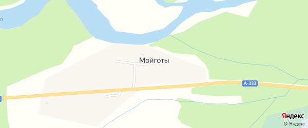 Трактовая улица на карте села Мойготы с номерами домов