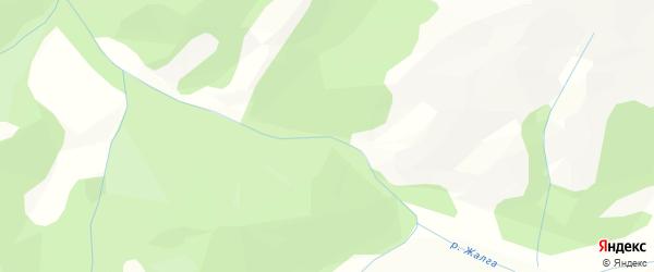 Карта местечка Ханды Жалга в Бурятии с улицами и номерами домов