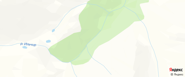 Карта местечка Ильчир в Бурятии с улицами и номерами домов