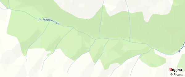 Карта местечка Нарина Гола в Бурятии с улицами и номерами домов
