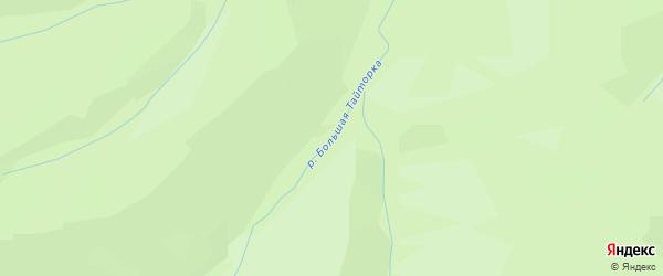 Карта местечка Большей Тайторки в Бурятии с улицами и номерами домов