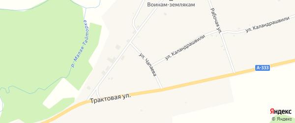 Улица Чапаева на карте села Шимков с номерами домов
