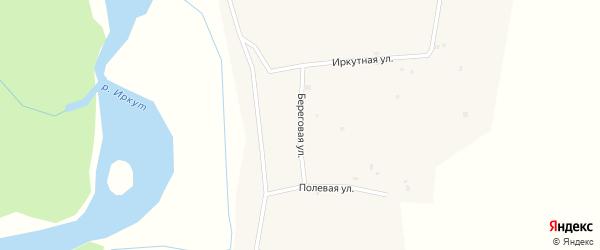 Береговая улица на карте села Шимков с номерами домов