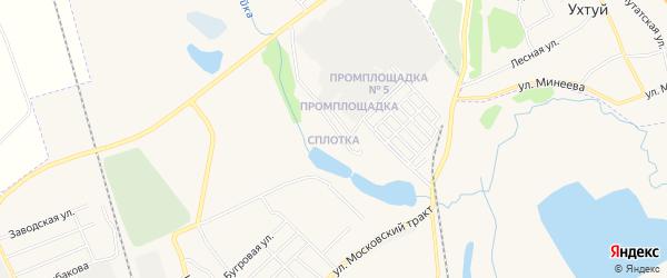 Карта поселка Сплотки города Зимы в Иркутской области с улицами и номерами домов