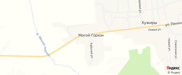 Карта улуса Могой-Горхон в Бурятии с улицами и номерами домов