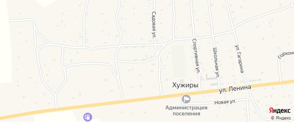 Рабочая улица на карте улуса Хужиры с номерами домов