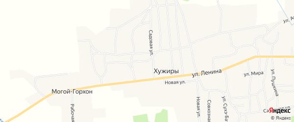 Карта улуса Хужиры в Бурятии с улицами и номерами домов