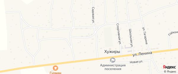 Совхозная улица на карте улуса Хужиры с номерами домов