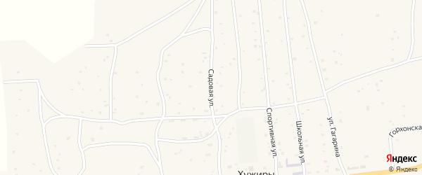 Садовая улица на карте улуса Хужиры с номерами домов