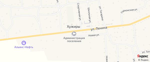 Улица Ленина на карте улуса Хужиры с номерами домов