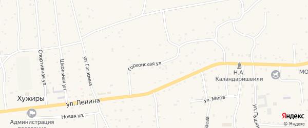 Горхонская улица на карте улуса Хужиры с номерами домов