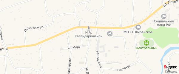 Производственная улица на карте села Кырена с номерами домов