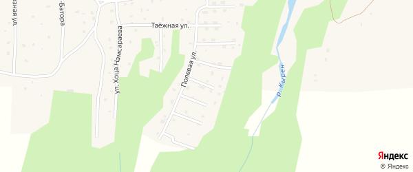 Южный переулок на карте села Кырена с номерами домов