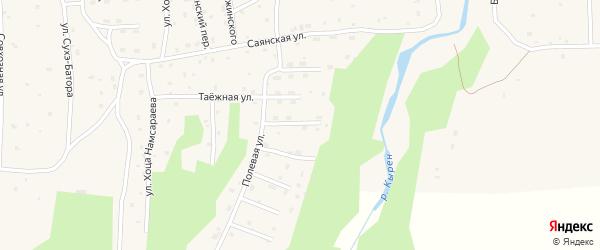 Зеленая улица на карте села Кырена с номерами домов