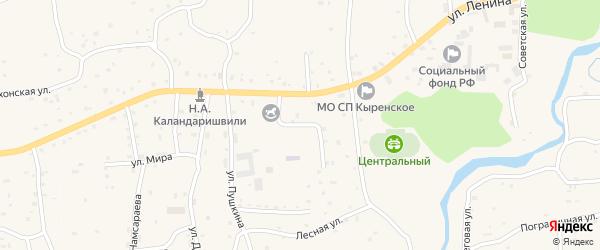 Улица 60 лет Октября на карте села Кырена с номерами домов